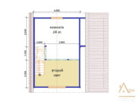 Проект каркасного дома 6 на 6 со вторым светом 2 этаж