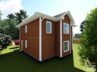 каркасный дом 9x9 двухэтажный