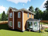 проект каркасного дома 9x9