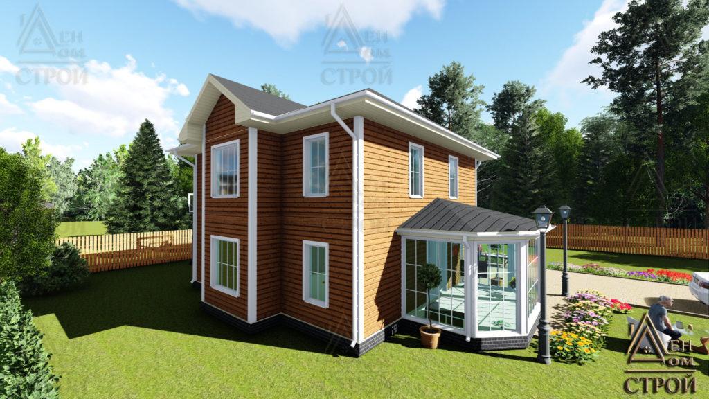 Большой каркасный дом 9х9