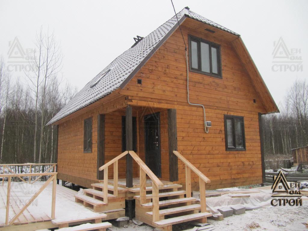 Каркасный дом 6 на 8 с мансардой фото