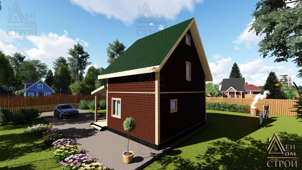 каркасный дом 7х7 проект