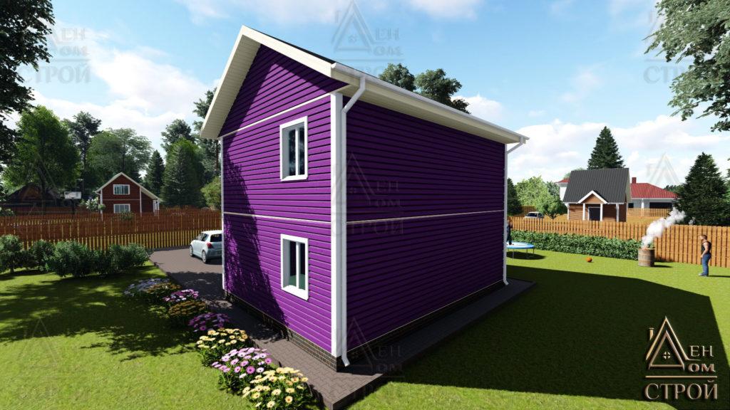 каркасный дом 6х8 двухэтажный купить СПб