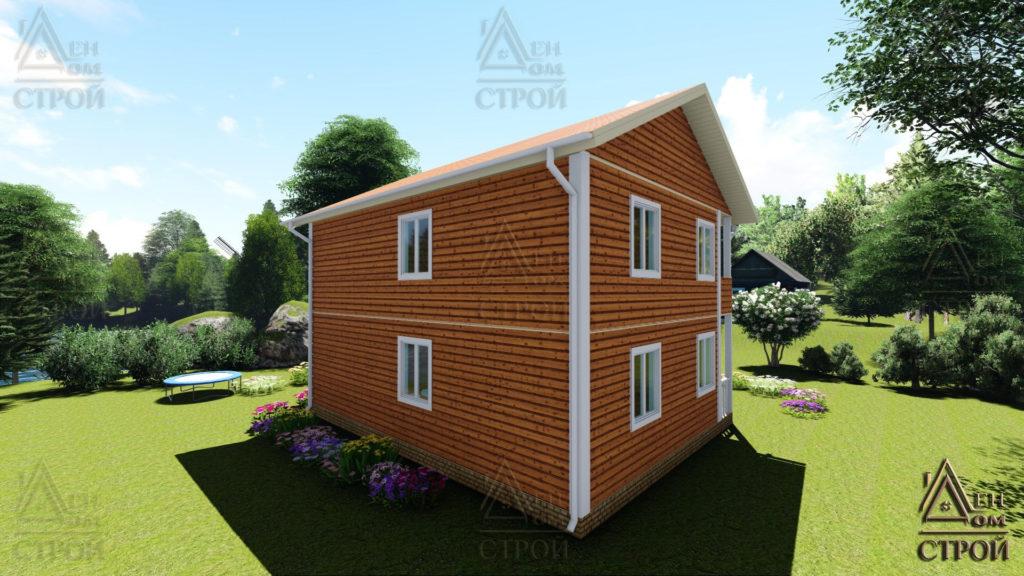 Дом из бруса 7х9 двухэтажный купить в СПб
