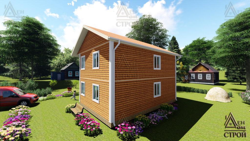 Дом из бруса 7х9 двухэтажный купить в Санкт-Петербурге