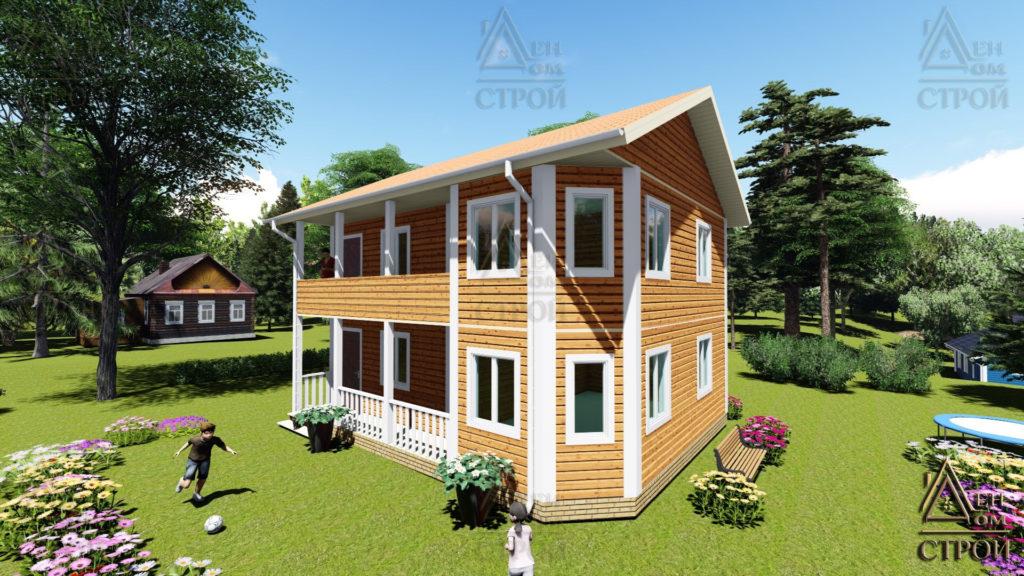 Дом из бруса 7х9 двухэтажный купить в Санкт-Петербурге и Лен обл