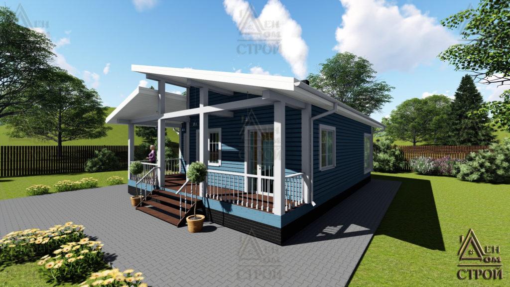 Дом из бруса 10.5х11.5 одноэтажный купить в СПб