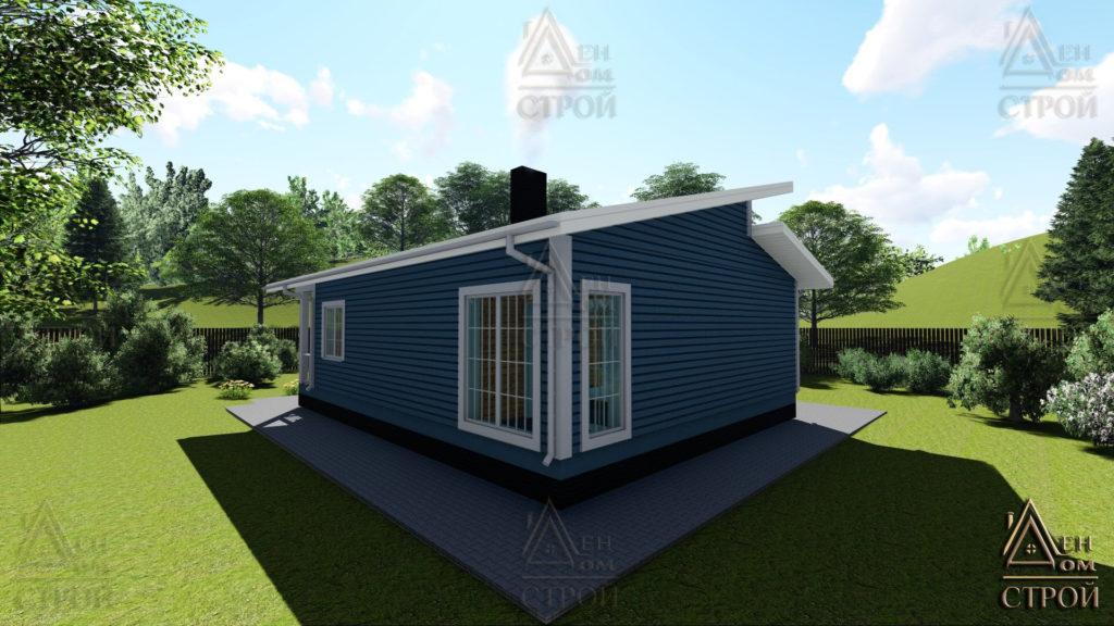 Дом из бруса 10.5х11.5 одноэтажный купить в Санкт-Петербурге