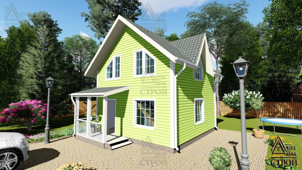 Дом из бруса 6x6 полутораэтажный
