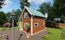 Дом из бруса 6 на 6 со вторым светом купить в СПб