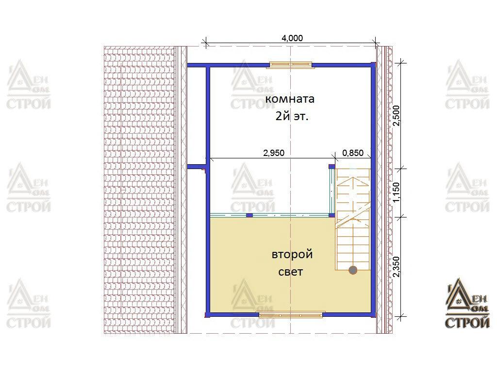 План дома из бруса 6 на 6 со вторым светом купить в СПб