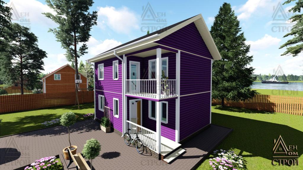Дом из бруса 6x8 двухэтажный