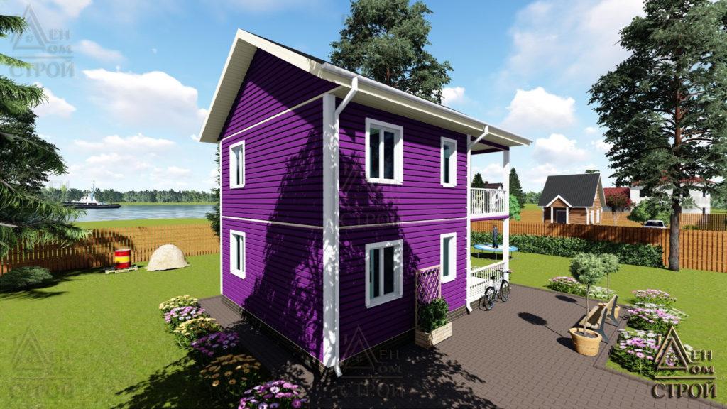 Дом из бруса 6x8 двухэтажный купить в СПб