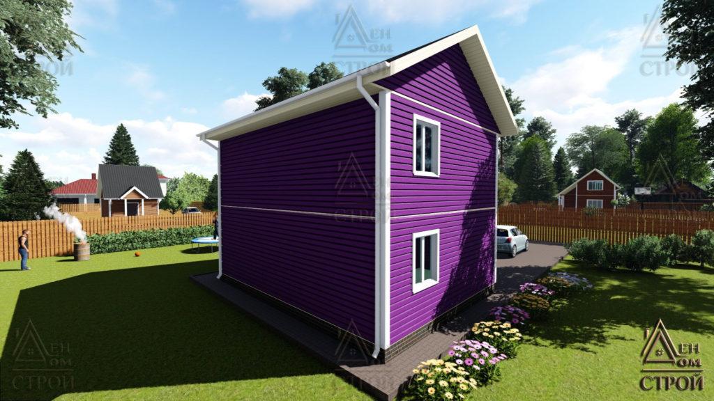 Дом из бруса 6x8 двухэтажный купить в Санкт-Петербурге