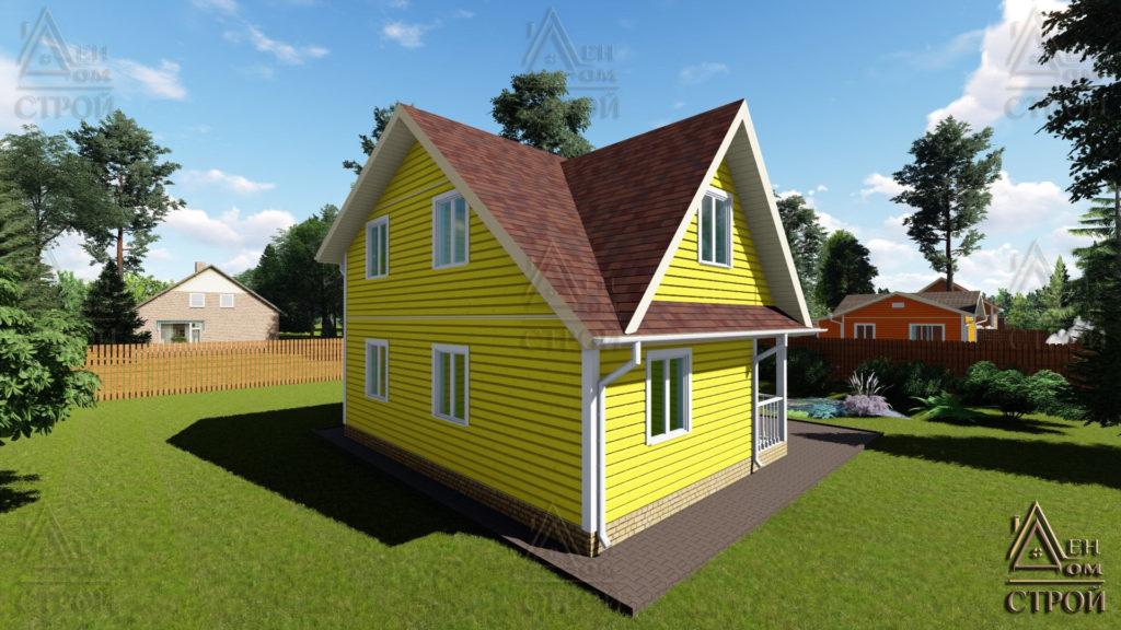 Дом из бруса 6x8 полутораэтажный купить в СПб