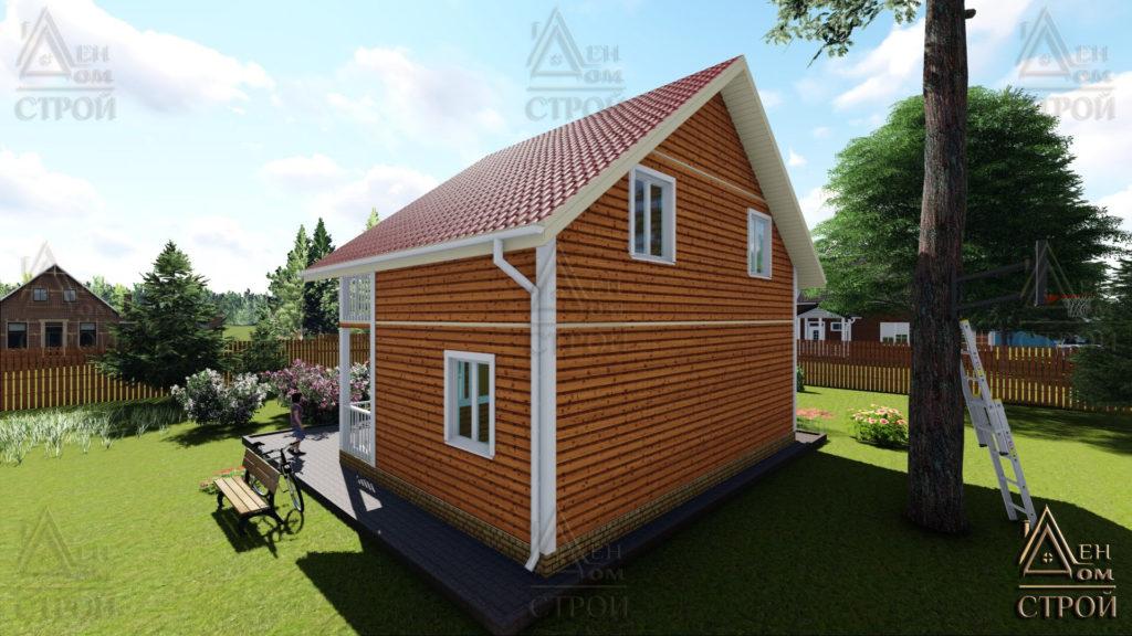 Дом из бруса 6x8 полутораэтажный купить в Санкт-Петербурге