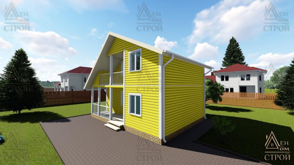 Дом из бруса 6x8 полутораэтажный купить в Санкт-Петербурге и Лен обл