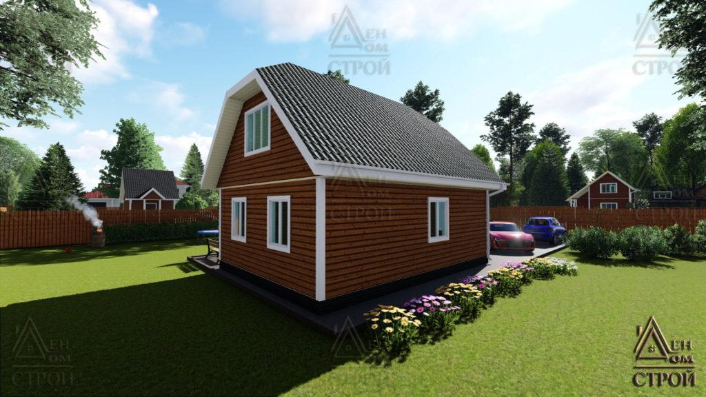 Дом из бруса 6x8 с мансардой купить в Санкт-Петербурге и Лен обл