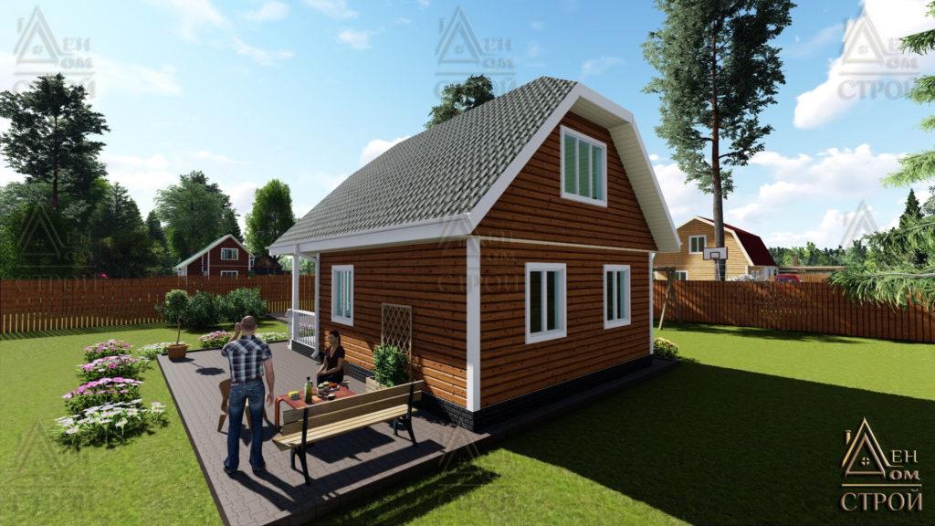 Дом из бруса 6x8 с мансардой построить в Санкт-Петербурге и Лен обл