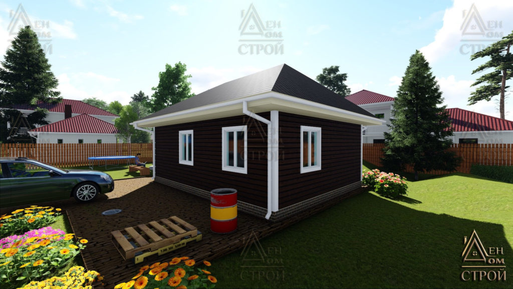 Дом из бруса 6х8 с одноэтажный купить в Санкт-Петербурге и Лен обл