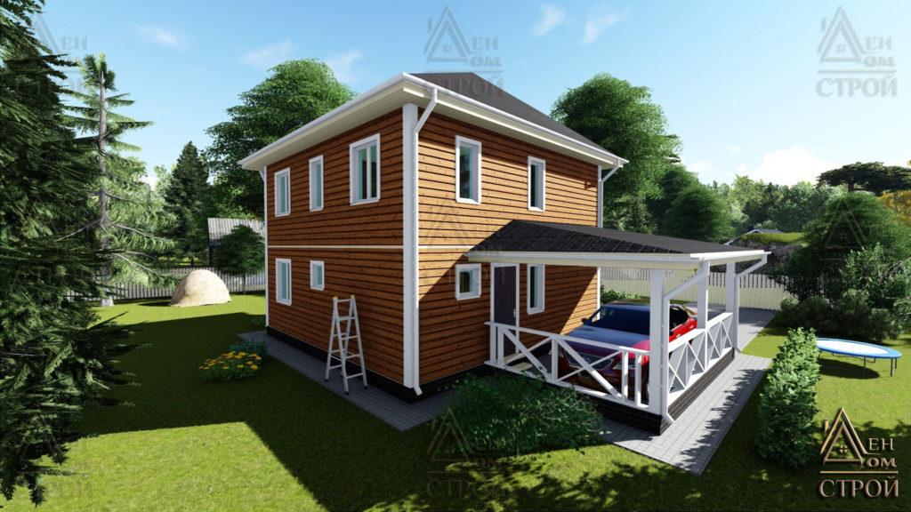 Дом из бруса 7,5 на 7,5 двухэтажный