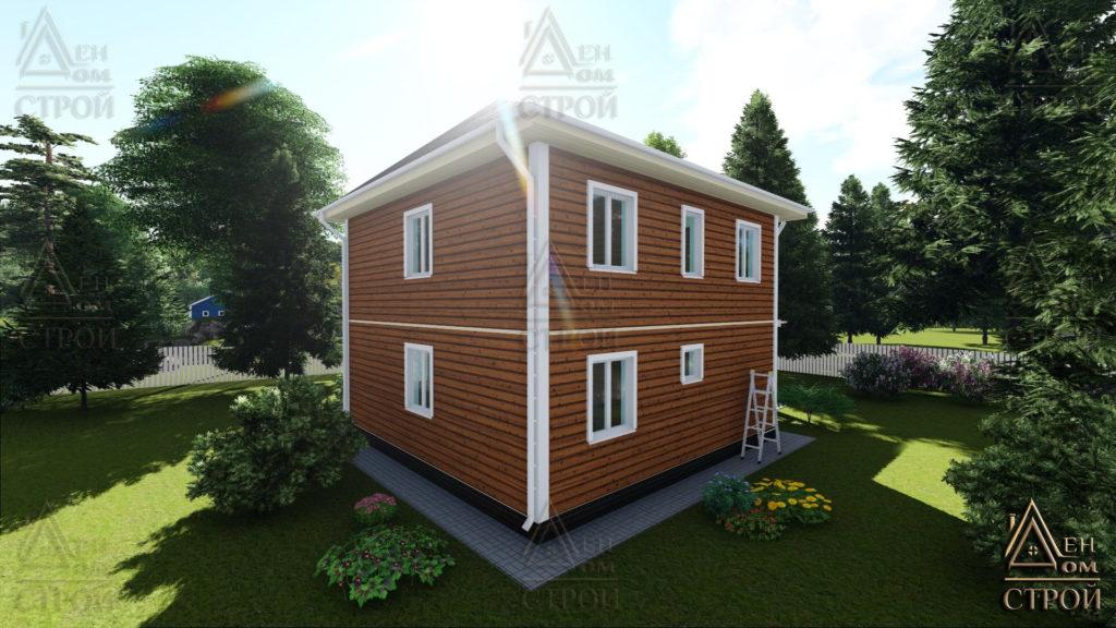 Дом из бруса 7,5x7,5 двухэтажный купить в СПб