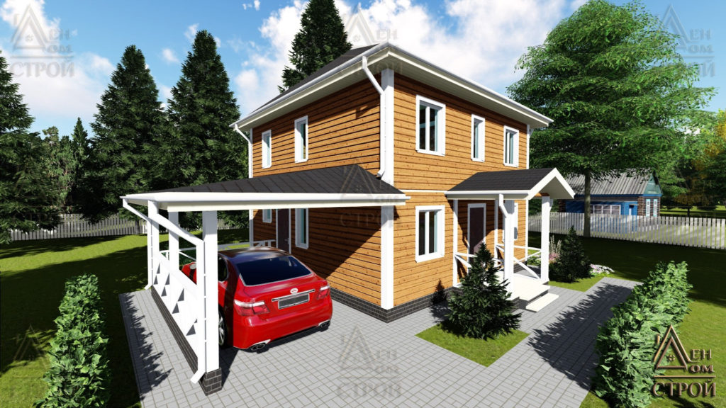 Дом из бруса 7,5x7,5 двухэтажный купить в Санкт-Петербурге и Лен обл