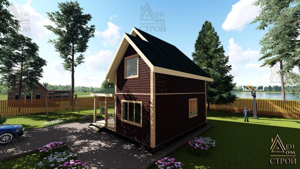 Дом из бруса 7x7 полутораэтажный купить в Санкт-Петербурге и Лен обл