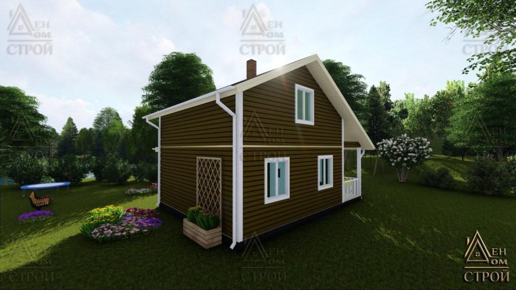 Дом из бруса 7x8 полутараэтажный купить в СПб