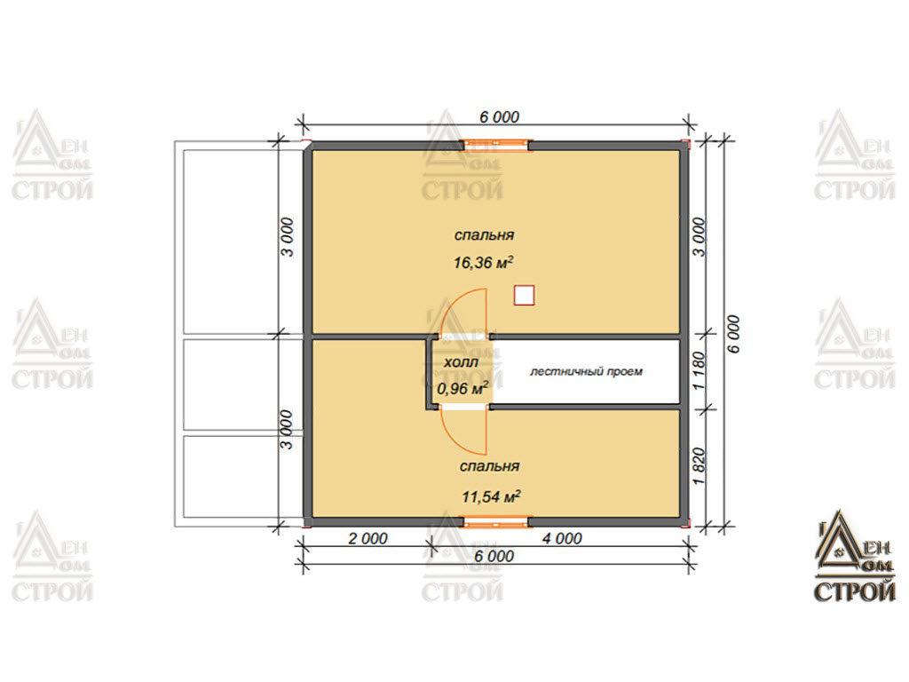 План дома из бруса 7x8 полутараэтажный купить в Санкт-Петербурге