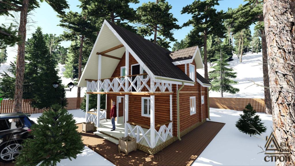 Дом из бруса 7x8,5 купить в Санкт-Петербурге и Лен обл