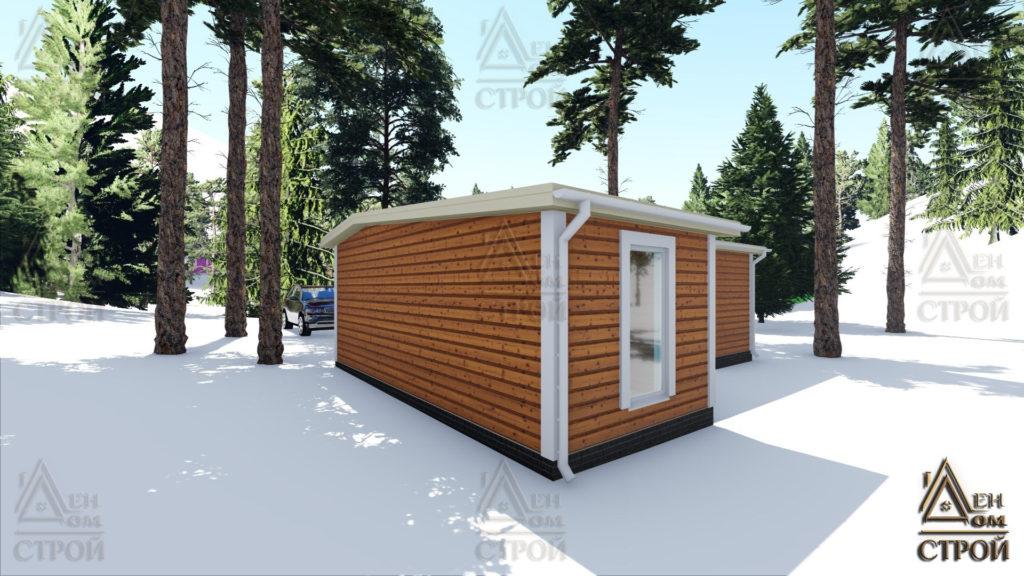 Дом из бруса 7x9 одноэтажный купить в Санкт-Петербурге
