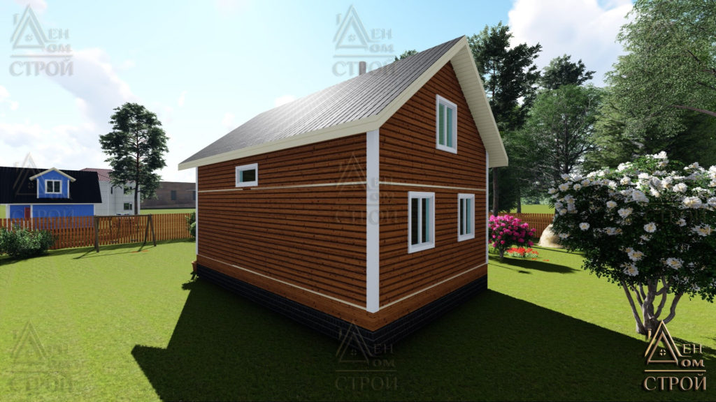 Дом из бруса 7x9 полутораэтажный купить в Санкт-Петербурге