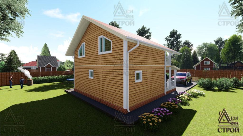 Дом из бруса 8x8.5 полутораэтажный купить в СПб
