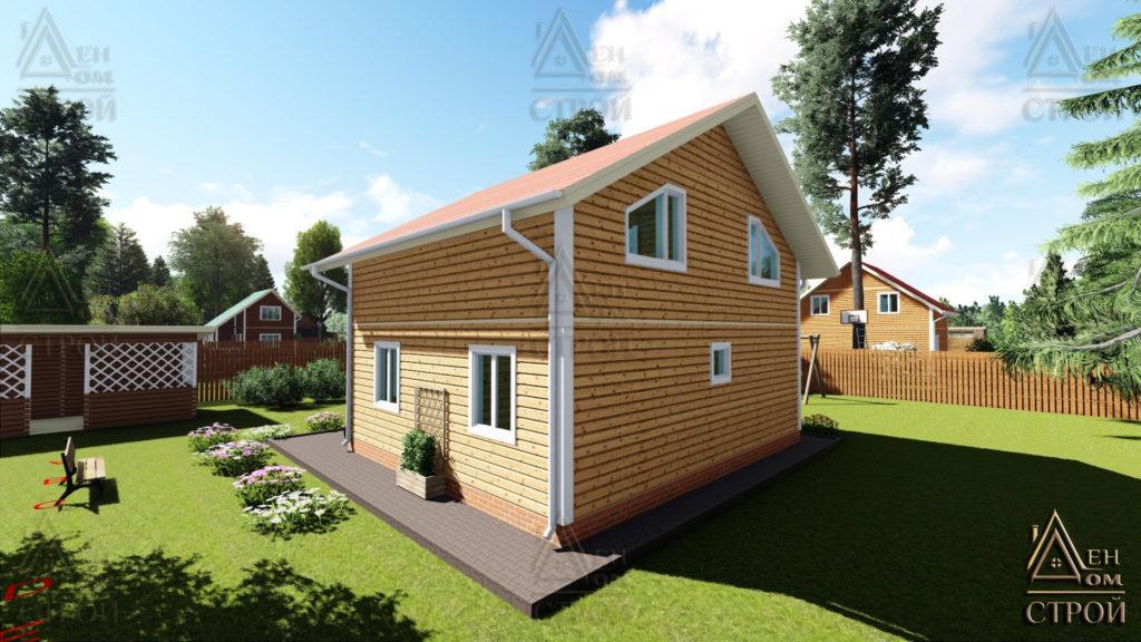 Дом из бруса 8x8.5 полутораэтажный купить в Санкт-Петербурге