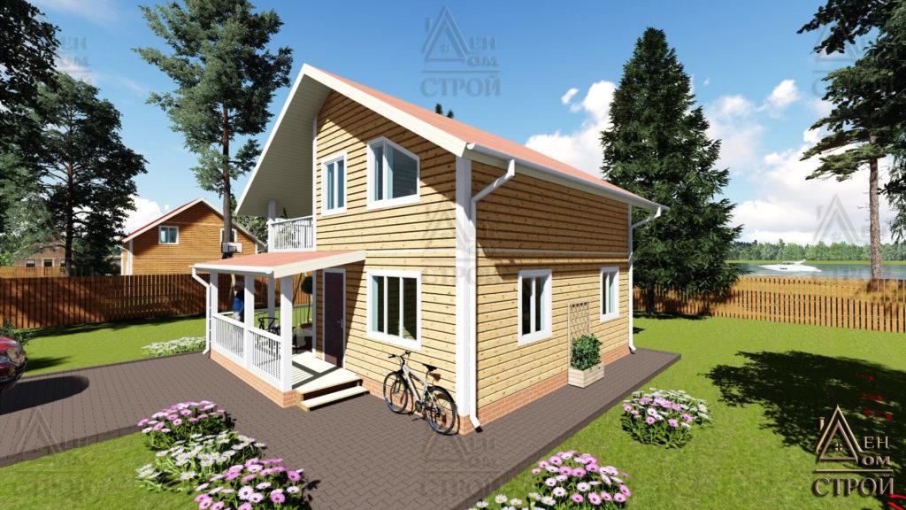 Дом из бруса 8x8.5 полутораэтажный купить в Санкт-Петербург и Лен обл