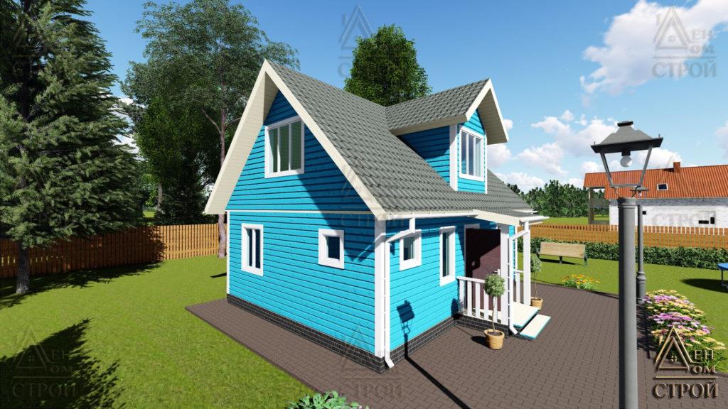 Дом из бруса с мансардой 6x8