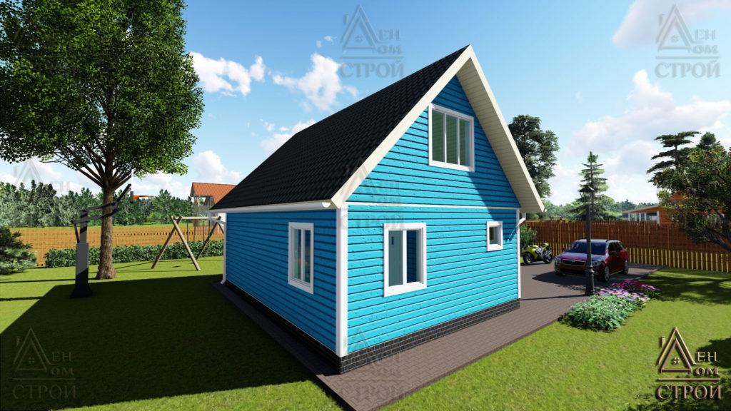 Дом из бруса с мансардой 6x8 купить в СПб