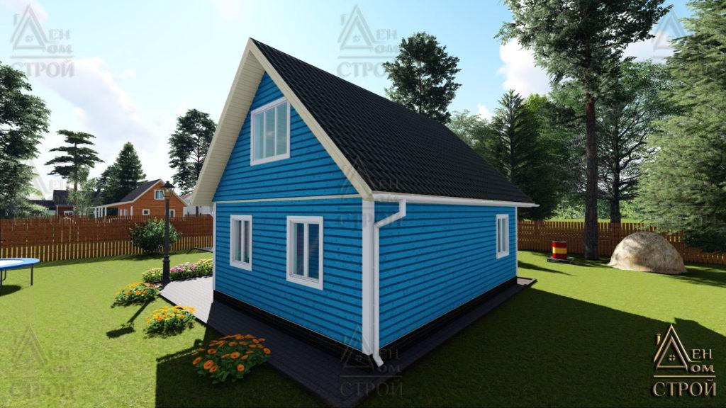 Дом из бруса с мансардой 6x8 купить в Санкт-Петербурге