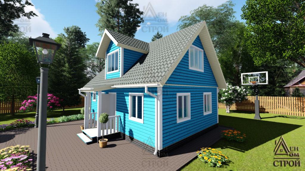Дом из бруса с мансардой 6x8 купить в Санкт-Петербурге и Лен обл