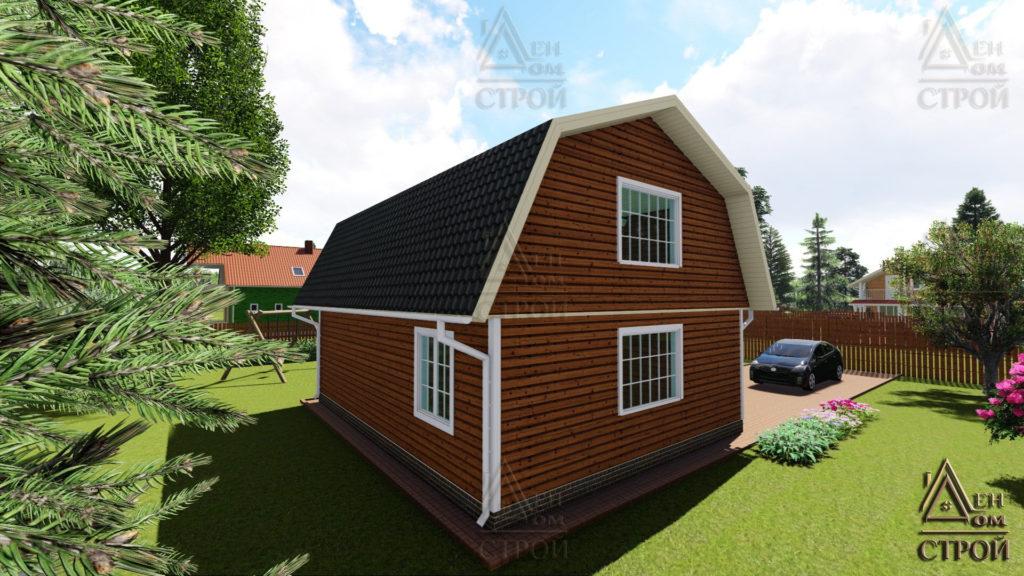 Дом из бруса 9x8,5 с мансардой купить в СПб