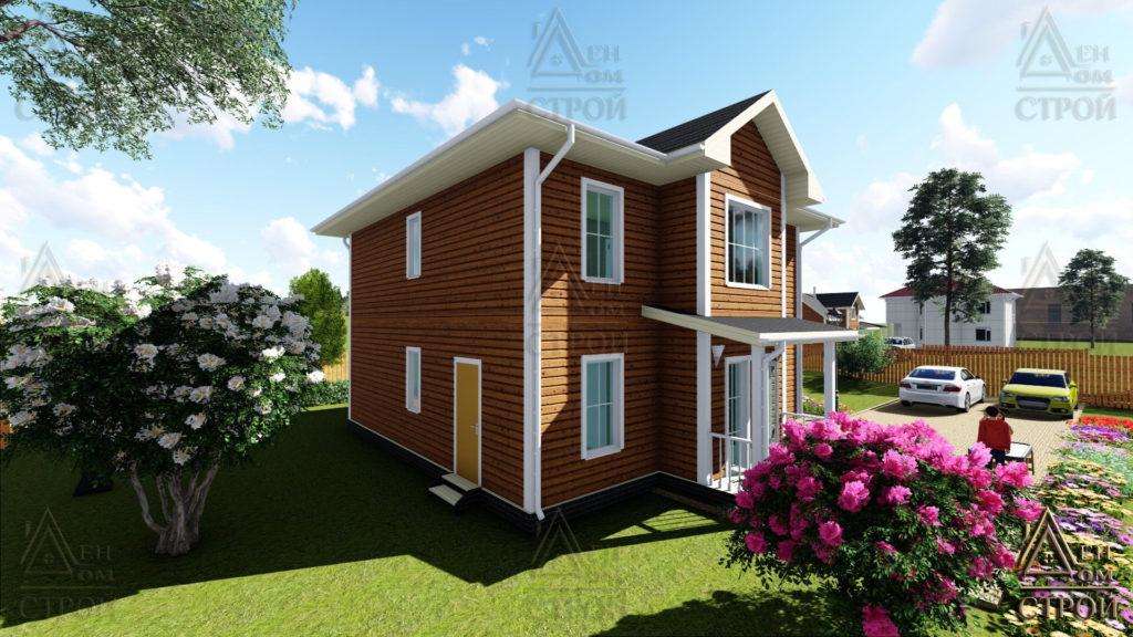 Дом из бруса 9х9 двухэтажный купить в СПб
