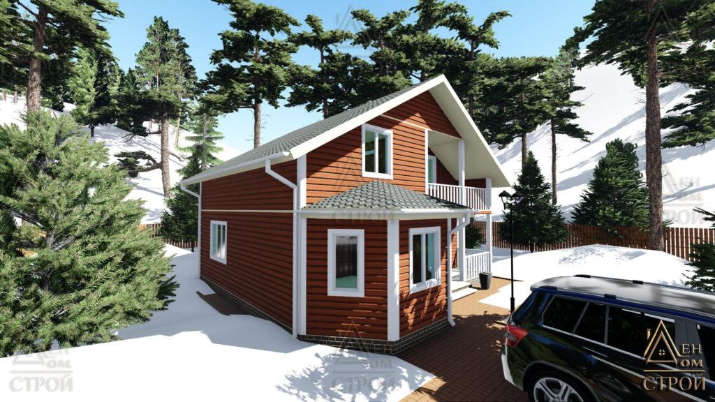 Дом из бруса 9 на 9 полутораэтажный купить в СПб
