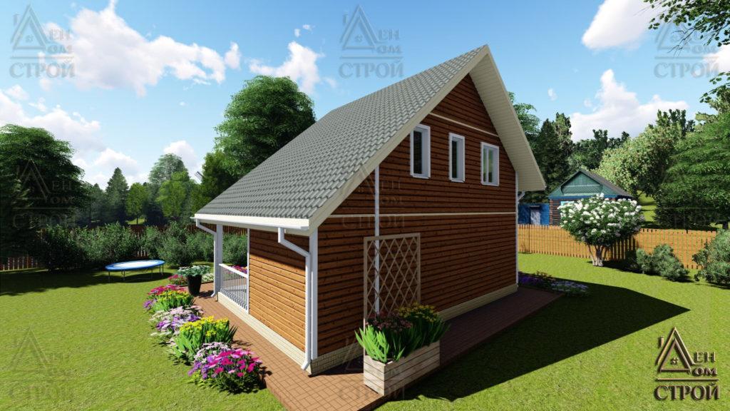 Дом из бруса полутораэтажный 7x8,5 купить в СПб