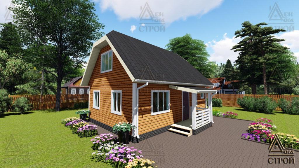 Дом из бруса с мансардой 6x8,5 купить в СПб