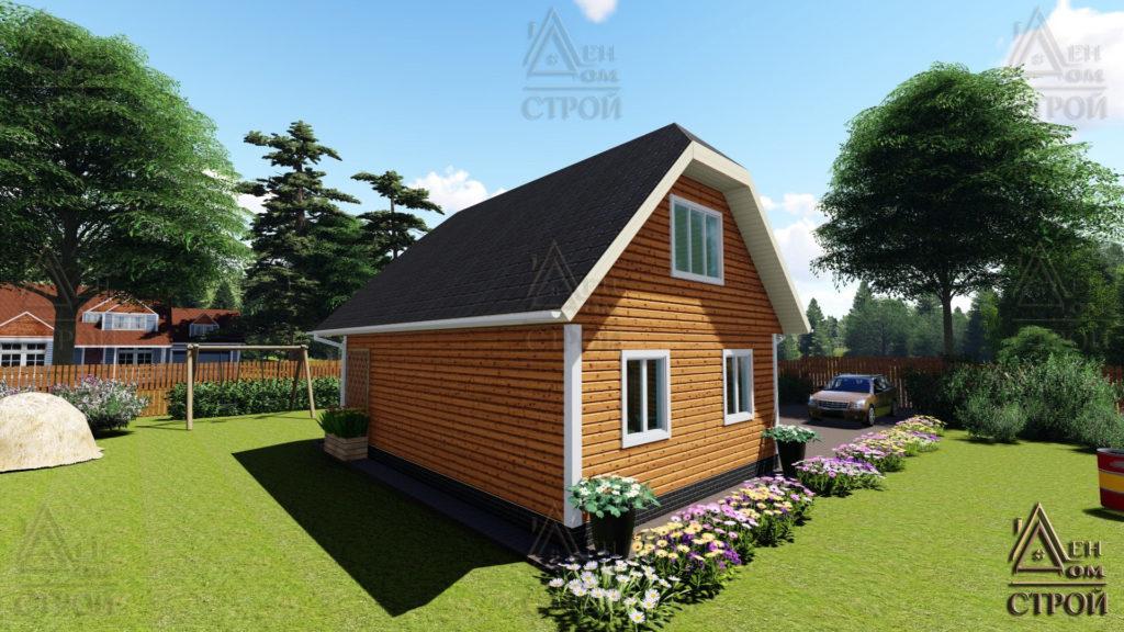 Дом из бруса с мансардой 6x8,5 купить в Санкт-Петербурге