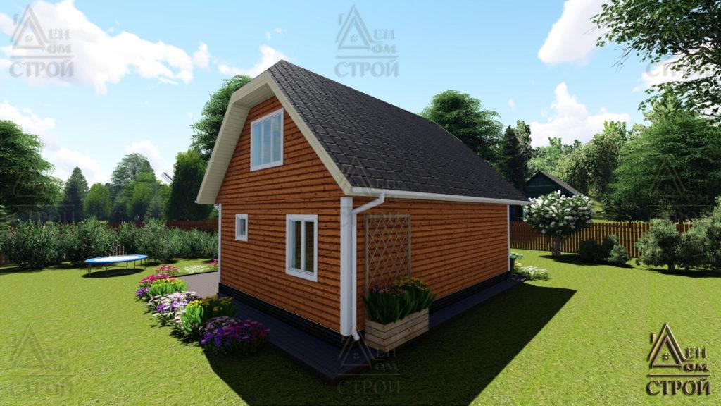Дом из бруса с мансардой 6x8,5 купить в Санкт-Петербурге и Лен обл