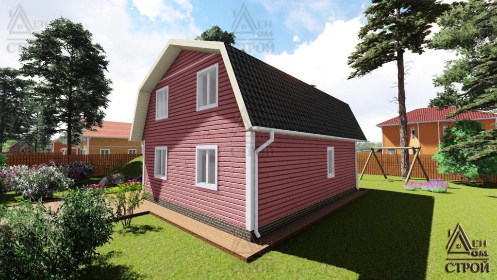 Дом из бруса с мансардой 7х9 купить в Санкт-Петербурге