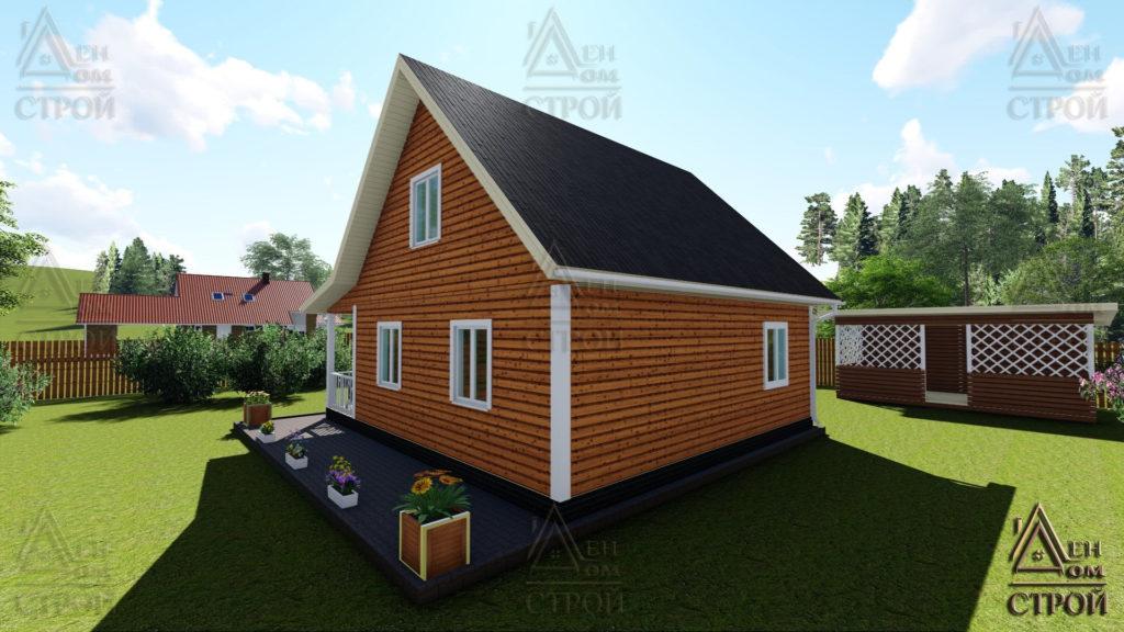 Дом из бруса с мансардой 8х9 купить в Санкт-Петербурге