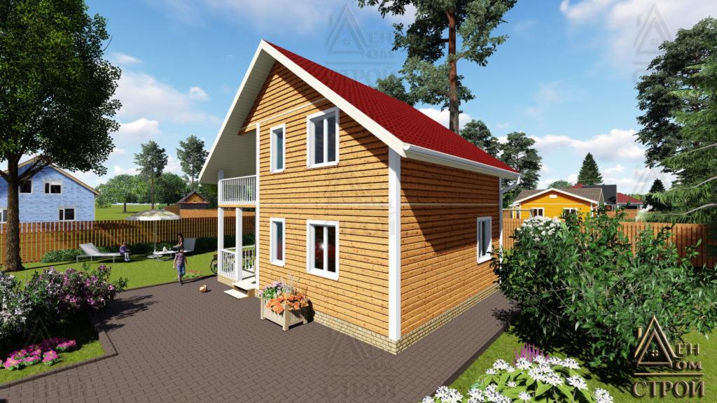 дом каркасный 6х8 двухэтажный